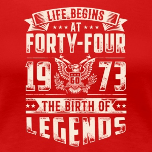 Life Begins At Forty Four Tshirt - Women's Premium T-Shirt