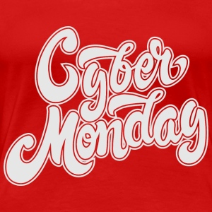 Cyber Monday Hand Drawn - Women's Premium T-Shirt