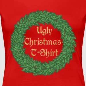 The Ugly Christmas T-Shirt Wreath - Women's Premium T-Shirt
