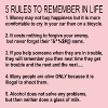 5 Rules To Remember In Life  - Women's Premium T-Shirt