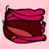 Cartoon mouth template (female) - Women's Premium T-Shirt