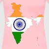 India Map Flag With Stroke - Women's Premium T-Shirt