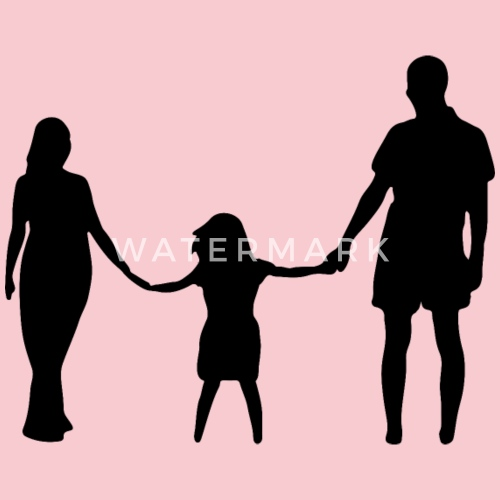 mother daughter father holding hands silhouette by martmel us