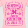 Vintage 1941 Aged to Perfection 75th Birthday - Women's Premium T-Shirt