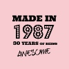 Made in 1987 - 30th bday - Women's Premium T-Shirt