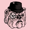 Monocle Bulldog - Women's Premium T-Shirt