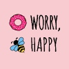 Donut Worry, Bee Happy - Women's Premium T-Shirt