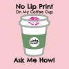 No Lip Print on Coffee Cup - Women's Premium T-Shirt