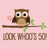 50th Birthday Owl Look Whoos 50 - Women's Premium T-Shirt