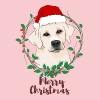 merry christmas labrador dog - Women's Premium T-Shirt