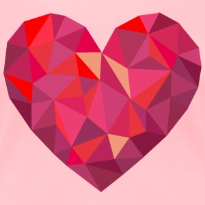 Valentine's Day Geometric Low Poly Heart