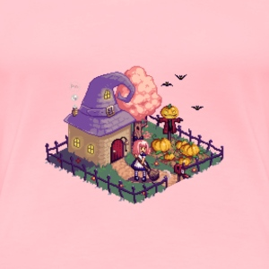 Happy Halloween pixel art - Women's Premium T-Shirt