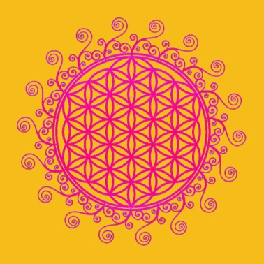FLOWER OF LIFE, SPIRITUAL, SACRED GEOMETRY, YOGA - Women's Premium T-Shirt