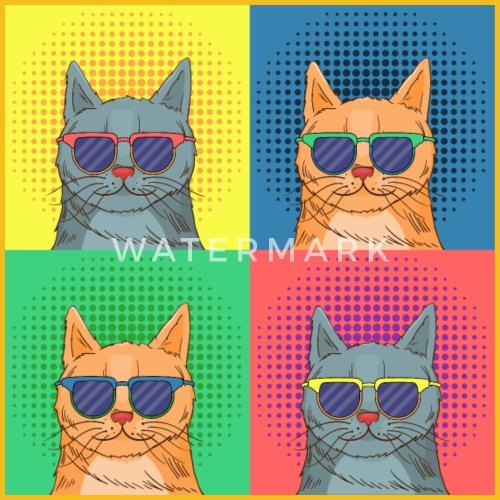 cat pop art by bignside spreadshirt