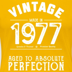 Funny 40th Birthday Present Vintage Made in 1977 - Women's Premium T-Shirt