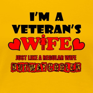 I'm a veteran's wife - Women's Premium T-Shirt