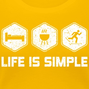 LIFE IS SIMPLE - SKI SHIRT FOR WOMEN | MEN | KIDS - Women's Premium T-Shirt