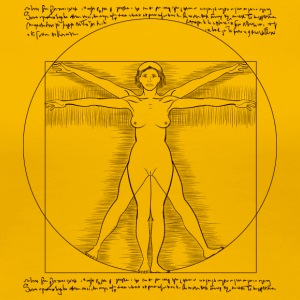 woman vitruvian - Women's Premium T-Shirt