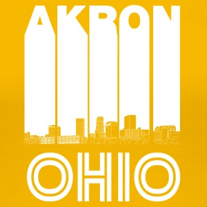 Retro Akron Ohio Skyline - Women's Premium T-Shirt