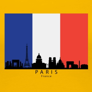 Paris France Skyline French Flag - Women's Premium T-Shirt