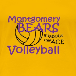 montgomery volleyball - Women's Premium T-Shirt