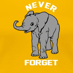 Baby Elephant Never Forgets - Women's Premium T-Shirt