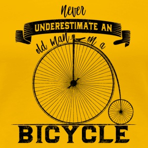 Never Underestimate an old man on a Bicycle