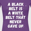 Jiu Jitsu Black / White belt Martial Arts T Shirt - Women's Premium T-Shirt