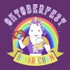 Funny Oktoberfest Unicorn with Pretzel & Beer Mug - Women's Premium T-Shirt