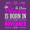 A Little Princess Is Born In November - Women's Premium T-Shirt