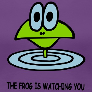 the frog is watching you - Women's Premium T-Shirt