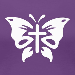 Cross Butterfly - Women's Premium T-Shirt