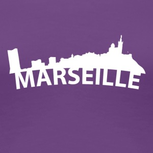 Arc Skyline Of Marseille France - Women's Premium T-Shirt