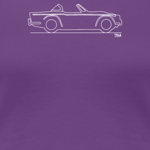 Original sketch Triumph TR4a Surrey top - Women's Premium T-Shirt