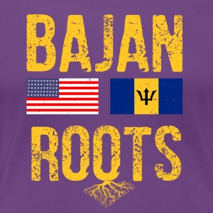 Bajan Flag designs - Women's Premium T-Shirt