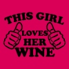 This Girl Loves Her Wine - Women's Premium T-Shirt