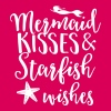 Mermaid kisses and starfish wishes - Women's Premium T-Shirt