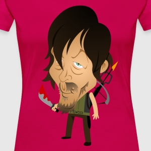 Daryl Dixon Norman Reedus form The Cartoons Dead - Women's Premium T-Shirt
