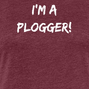 I'm a Plogger white Typography for Plogging