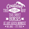 This person talk about Horses! - Women's Premium T-Shirt