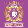 The Real Queens Are Born On May 1970 - Women's Premium T-Shirt