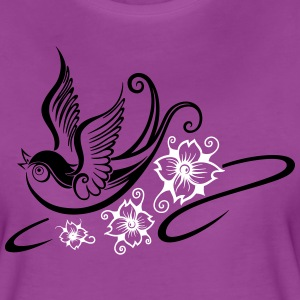 Tattoo swallow, spring time. - Women's Premium T-Shirt