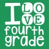 I Love Fourth Grade - Women's Premium T-Shirt