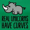 Real unicorns have curves - Women's Premium T-Shirt