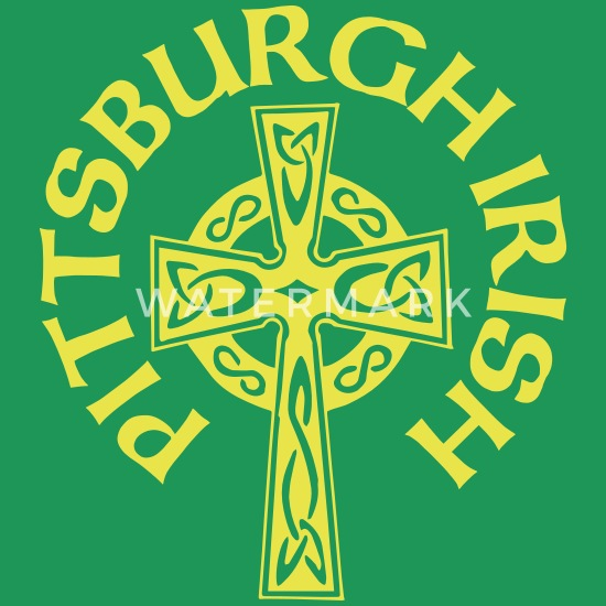 f37eb273 Pittsburgh Irish Celtic Cross apparel Clothing Women's Premium T ...