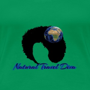 Natural Travel Diva- EARTH & Blue - Women's Premium T-Shirt