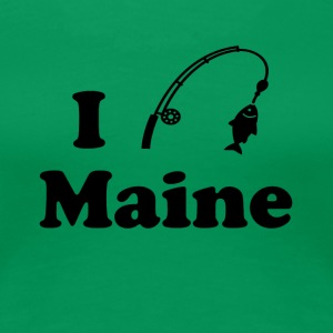 maine fishing - Women's Premium T-Shirt