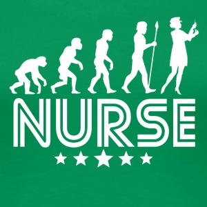 Retro Nurse Evolution - Women's Premium T-Shirt