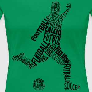 Soccer Languages Typography - Women's Premium T-Shirt