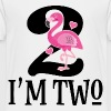 2nd Birthday Girls Flamingo - Toddler Premium T-Shirt